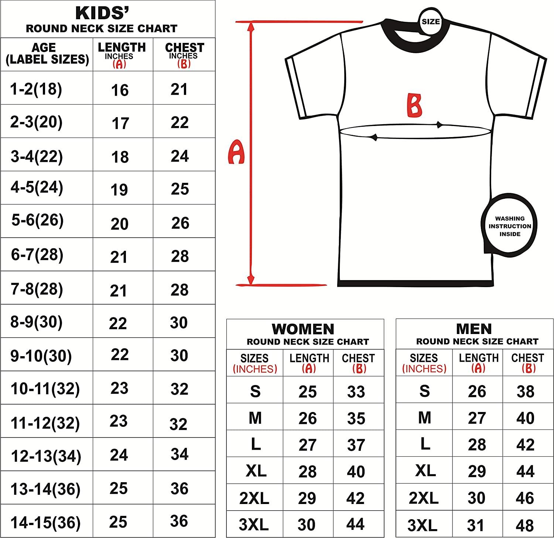 Men's Shirts Size Chart